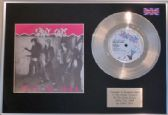 "STRAY CATS  - 7"" Platinum Disc + cover - ROCK THIS TOWN"